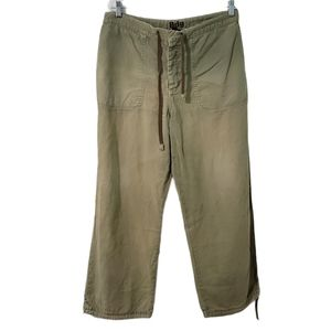 UO BDG Green Linen Blend High Rise Pocket Pants 34